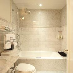 The Renovated Home - bathrooms - chic bathrooms, shower partition, glass shower…