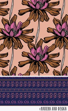 Pattern and Design. Learn to create surface pattern designs - - Pattern and Design. Join for access to resources, tutorials and inspirations for creatives; Boho Pattern, Flower Pattern Design, Design Floral, Surface Pattern Design, Pattern Designs, Pattern Art, Pattern Fabric, Design Color, Design Textile