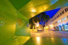 Image 4 of 10 from gallery of BA_LIK / Vallo Sadovsky Architects. Photograph by Pato Safko Pavilion Design, Public Square, Bratislava, Dezeen, Fair Grounds, Gallery, Travel, Architects, Image