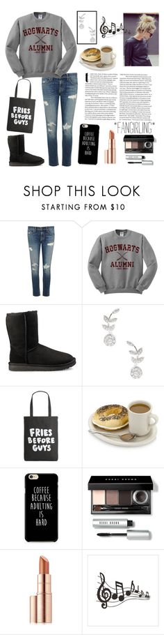 """""""Happy Freezing Summer Birthday!"""" by athena-queen ❤ liked on Polyvore featuring rag & bone/JEAN, UGG, Rina Limor, ban.do, Bobbi Brown Cosmetics and Estée Lauder"""