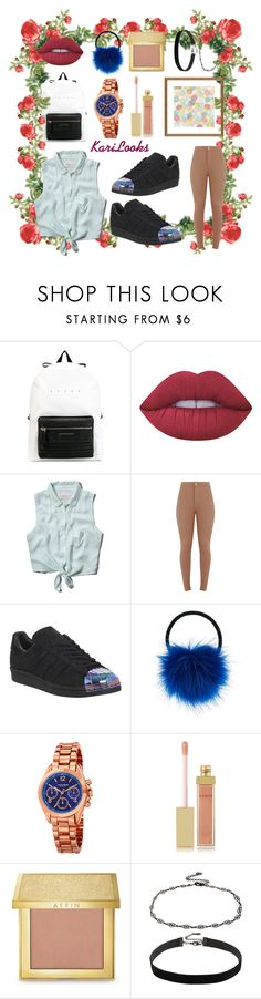 """""""128"""" by karilooks ❤ liked on Polyvore featuring Alexander McQueen, Lime Crime, Abercrombie & Fitch, adidas, Accessorize, Akribos XXIV, AERIN and Amanti Art"""