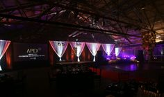 Great awards stage set. Very easy and effective.