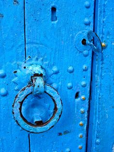 Detail of a blue door by cineuno on Creative Market