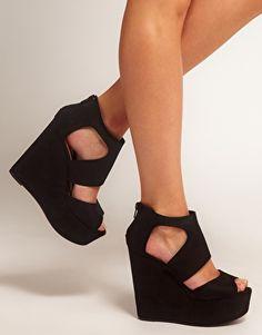 New Look Width Platform Wedge Shoes