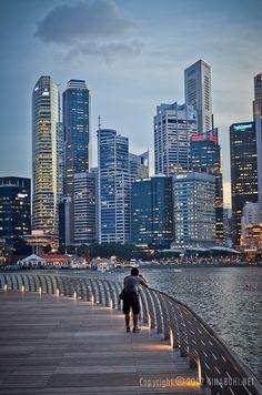 the Singapore skyline.  #sgmemory #archivingsg