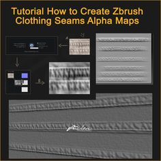 Free ZBrush Tutorial How to Create ZBrush Cloth Seams Alpha Displacement Maps for 3D Clothing. Quickly Create Tiling Clothing Seams Alphas from Any Photo.