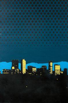 Diablo office artwork by Justin Cline - Denver Pop