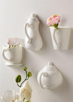 """Wanddeko """"Coffee"""" (4-tlg.) weiss - bpc living jetzt im Online Shop von bonprix.de ab ? 17,99 bestellen. Diese Wand-Deko ist eine innovative Antwort auf ..."""