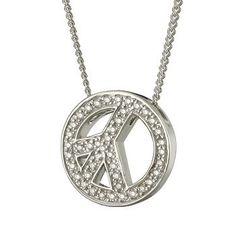 Diamond Peace Sign Necklace $325