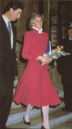 1983 01 30 Diana and Charles leave the Royal College of Music following an event at the Royal Albert Hall