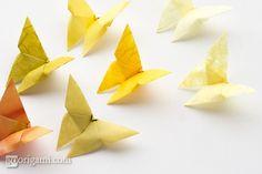 Graceful Butterfly Origami - http://www.ikuzoorigami.com/graceful-butterfly-origami/