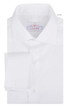White Twill dress shirt constructed by Luxire: http://custom.luxire.com/products/white-twill  Features: Babra collar and french cuffs.