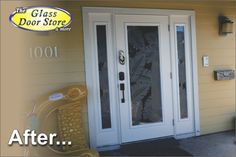 Etched palm leafs on hurricane impact single door with sidelights. Has textured glass in the background so it is totally private. http://glassdoorstampa.com/etched-or-sandblasted-glass-doors/