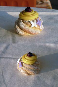Dolce napoletano realizzato in fimo (zeppola) - Zeppola cake in fimo polymer clay handmade