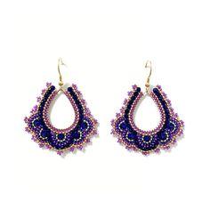in den Farbtönen Violett, Königsblau und Gold Crochet Earrings, Gold, Accessories, Jewelry, Fashion, Locs, Moda, Jewlery, Jewerly