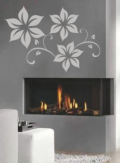Floral Wall Stickers  Home Wall Art Decals by FineArtDecals, $24.99