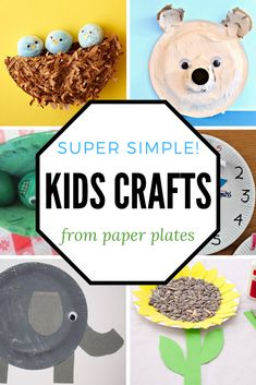 So many fun recycled crafts to make from paper plates! Animal crafts, seasonal crafts, nature crafts, and more can be made with just a few supplies. A fun list! Preschool Arts And Crafts, Creative Activities For Kids, Easy Arts And Crafts, Kids Learning Activities, Crafts For Kids To Make, Kids Fun, Paper Plate Crafts, Paper Plates, Puppy Crafts