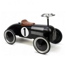 Black Classic Metal Ride on Car - Pedal & Ride on Toys