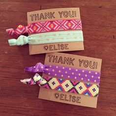 Our custom hair tie favors are a MUST for birthdays. Be the cool mom. Your daughter will love you forever, I promise.  We can customize the cards and
