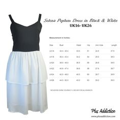 Singapore Plus Size Online Shop Plus Addiction very own exclusive Selena Peplum Dress in Black and White www.plusaddiction.com