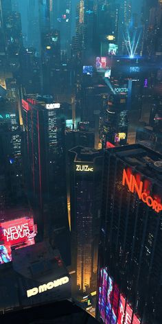Willian Gibson s cityscape. Cyberpunk City, Cyberpunk Aesthetic, Futuristic City, City Aesthetic, Building Aesthetic, Futuristic Technology, Futuristic Design, Technology Design, Technology Logo