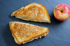 Wednesday Sandwich  Cinnamon Apple Fontina Grilled Cheese with Tahini and Honey