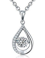 YL Dancing Diamond Sterling Silver 6mm 1.42ct Pendant with Chain 18""