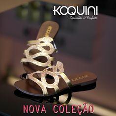 Além de se ajustar perfeitamente nos pés, fica linda e muito confortável #koquini #sapatilhas #euquero #rasteirinha Compre Online: http://koqu.in/1X9AvrM