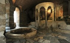 The Byzantine Baths at Thessaloniki in Greece was built around the start of the 14th century and was used as a public bath for 700 years.  It is the only surviving Byzantine bath in Greece and was used by both men and women. Photo credit: http://historum.com/medieval-byzantine-history/125336-pictures-byzantine-bath-thessaloniki.html