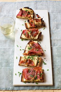 Camembert Prosciutto Tartines from @inaofficial's Cooking for Jeffrey cookbook.