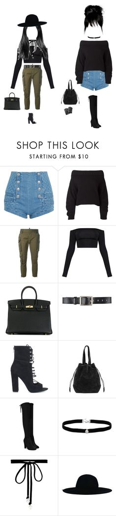 """Untitled #997"" by aazozq ❤ liked on Polyvore featuring Pierre Balmain, Opening Ceremony, Dsquared2, Hermès, Belstaff, Kendall + Kylie, Amanda Rose Collection, Joomi Lim and Karl Lagerfeld"