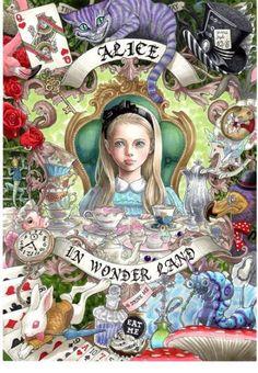"Art Nouveau style Alice from ""Alice in Wonderland"" by Japanese illustrator Ꭲ Ꭺ Ꮶ Ꮜ Ꮇ Ꮠ ™ Lewis Carroll, Disney Kunst, Art Disney, Wonderland Party, Alice In Wonderland, Go Ask Alice, Chesire Cat, Alice Madness, Adventures In Wonderland"