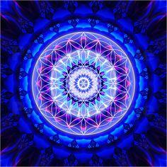 »✿❤ Blue❤✿« Christine Bässler - Mandala Sicherheit mit Blume des Lebens