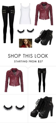"""""""Emma from once upon a time"""" by newt-newt ❤ liked on Polyvore featuring Barbour International, Paige Denim and Once Upon a Time"""