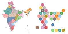 How to create hex tile map for India in Tableau Hex Tile, Zen Master, Data Visualization, Diagram, Kids Rugs, India, Map, Cool Stuff, Create