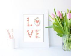 LOVE Collage by Clickatoos on Etsy