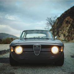 "The Official Club CAR&VINTAGE® on Instagram: ""• The ALFETTA. That nose. Alfa Romeo Giulia Sprint GT Veloce 1967 • by @valkyrfilms #alfaromeo..."