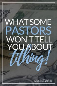 Some Pastors Won't Tell You About Tithing! - Is there more to tithing than what we're taught?Is there more to tithing than what we're taught? Bible Teachings, Bible Scriptures, Bible Quotes, Mafia, Christian Life, Christian Living, Christian Humor, Christian Quotes, All That Matters