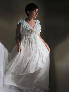 Wedding Fairy Dress. One Size Fits ALL / custom made  Goddess Dress. Renaissance Regency Empire Ball Gown. Beach Wedding Dress.