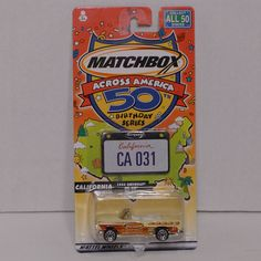 2001 Matchbox Across America California 1955 Chevrolet Bel Air - Unopened #Matchbox #Chevrolet