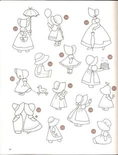 Sunbonnet sue, Overalls and Coloring for adults on Pinterest