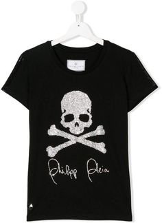 c2c6f8918 Philipp Plein Junior TEEN Gem Studded Logo T-shirt - Farfetch