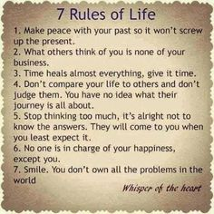 Seven Rules of Life