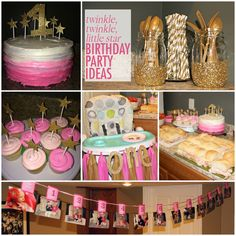 DIY Pink and Gold | Twinkle Twinkle Little Star Birthday Party | #firstbirthday