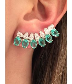 ear cuff turmalina e prata semi joias finas