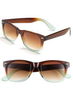 Icon Eyewear 'Maureen' Two Tone Gradient Sunglasses Cheap Ray Ban Sunglasses, Sunglasses Outlet, Wayfarer Sunglasses, Accessoires Divers, Jimmy Choo, Ray Bans, Fendi, Balenciaga, Eye Glasses