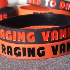 A silicone wristband for lovers of Vampires with Raging Vampireholic embossed in either black or red Coffee Cans, Rage, My Etsy Shop, Vampires, Bobs, Awesome, Check, Accessories, Jewelry