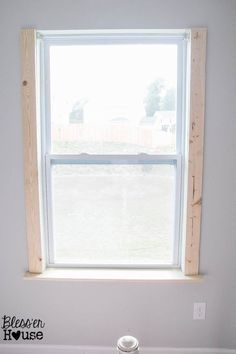 Diy Window Trim The Easy Way With Images Diy Window Trim Interior Window Trim Diy Window