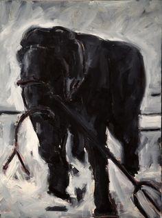 Original Animal Painting by Toby Corbett Save The Elephants, Mixed Media Canvas, Illustration Art, Illustrations, Saatchi Art, Original Paintings, Horses, Dark, Abstract