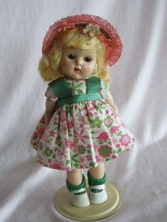 Oh how I loved my Ginny dolls!!     1950's Painted lash Strung Ginny Doll in her vintage outfit